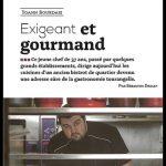 Touraine Magazine parle du Chef Yoann Bourdais, Restaurant Gastronomique, Le XII-Douze de Luynes, près de Tours, en Touraine, Loire Valley