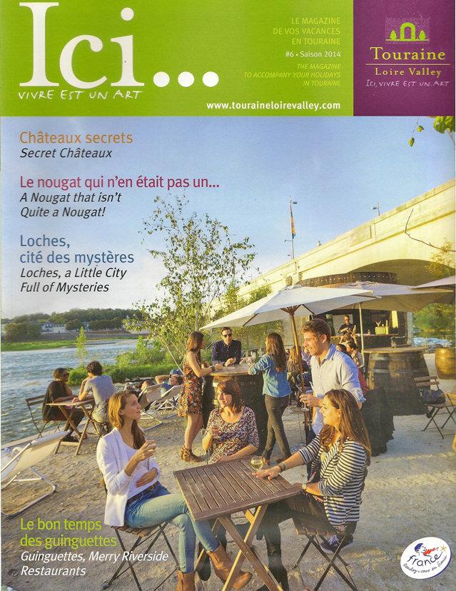 Ici Magazine, Chef Yoann Bourdais, Restaurant Gastronomique, Le XII - Douze de Luynes, près de Tours en Touraine, Loire Valley