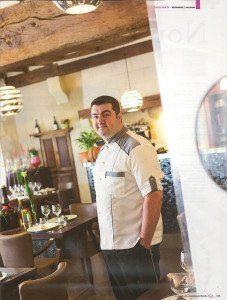 Chef Yoann Bourdais, Restaurant Le Xii de Luynes, a proximite de Tours, Chateaux, Loire Valley