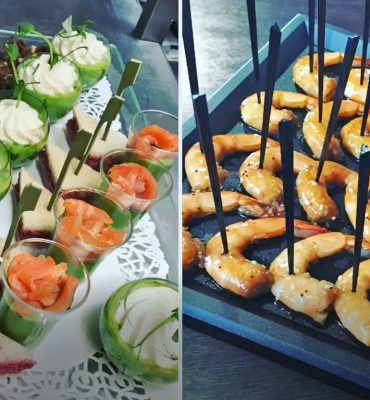 Cocktail Aperitifs a emporter, Restaurant Le XII-Douze de Luynes, pres de Tours en Touraine, Loire Valley
