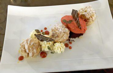 Dessert sublime Restaurant Gourmet Le XII - Douze de Luynes pres de Tours en Touraine, Loire Valley