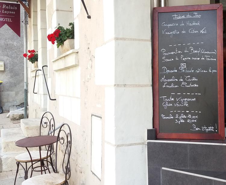 Ardoise du Jour Restaurant Gastronomique, Le XII-Douze de Luynes, pres de Tours en Touraine, Loire Valley