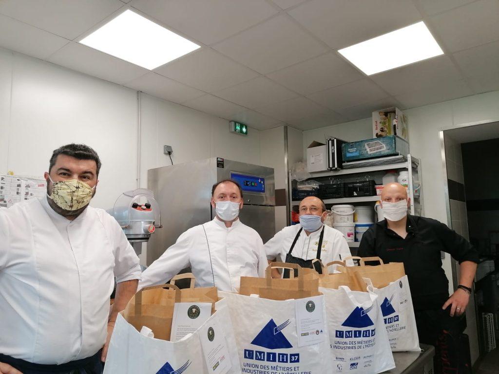Chef Yoann Bourdais, restaurant le LXII-Douze de Luynes, solidaire avec les soignants CHU Bretonneau a Tours