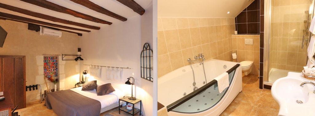 Chambre Balneo, Hotel Le Xii de Luynes, Chateaux en Touraine, Loire Valley, France