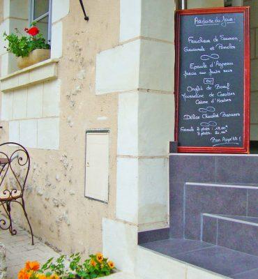 Ardoise du Jour, Restaurant Le Xii-Douze de Luynes, proche Tours, Loire Valley, Touraine